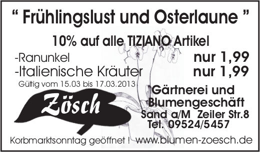 Anzeige Korb- und Weinmarkt